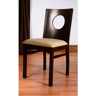 'Kora' Walnut and Linen Side Chairs (Set of 2)