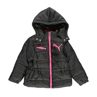 Puma Girls Clear Sky Black Jacket
