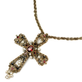 Sweet Romance Victoria Gothic Cross Necklace