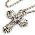Sweet Romance NeoRenaissance Crystal Cross Necklace