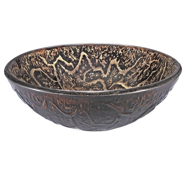 Glass Sink Bowl : Brown Vine Glass Sink Bowl - 15829731 - Overstock.com Shopping - Great ...