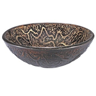 Brown Vine Glass Sink Bowl