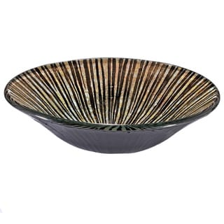 Black/ Brown Striped Glass Sink Bowl