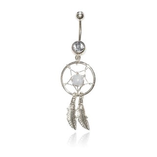 14G Surgical Steel Dream Catcher with Bling