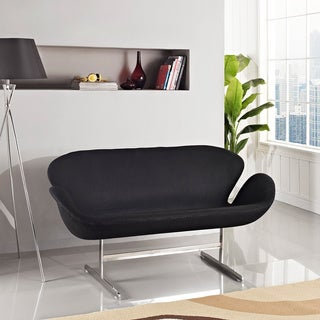Two-Seater Black Swan Chair