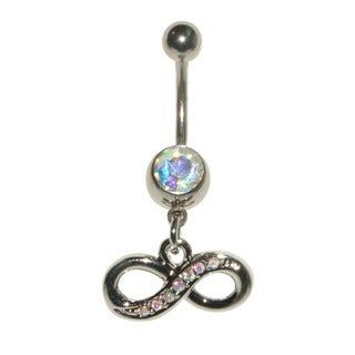 Supreme Jewelry 14G Surgical Steel Infiniti with Bling Belly Ring