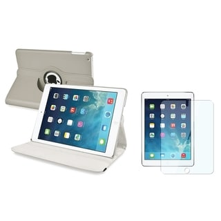 BasAcc Gray Swivel Case/ Screen Protector for Apple iPad Air