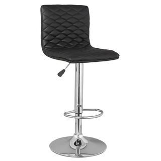 Black Diamond Stitch Adjustable Swivel Stools (Set of 2)