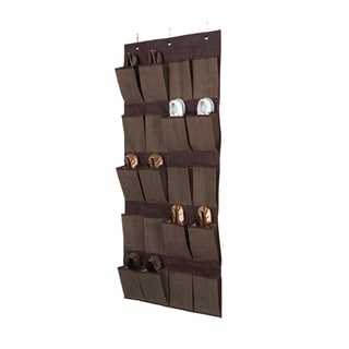 Kennedy Home Collection Espresso 20-pocket OTD Shoe Organizer