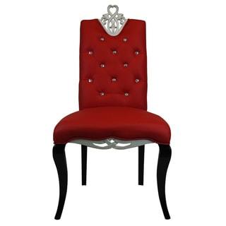 Modern Red Diamond Luxury Dining Chair (Set of 2)