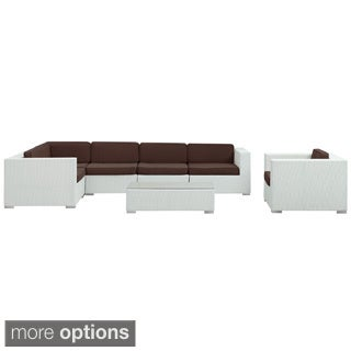 Corona Wicker Outdoor Patio 7-piece Sectional Sofa Set