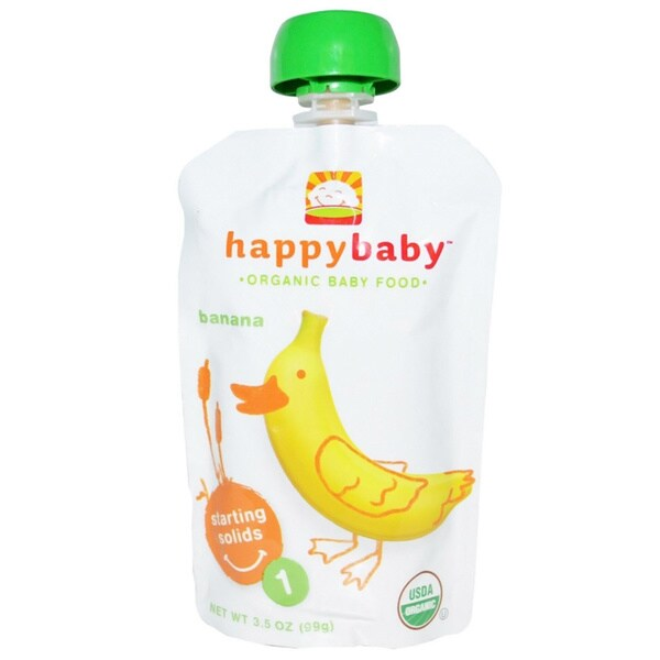 Happy Baby Stage 1 Banana Food Pouch (12 Pack)