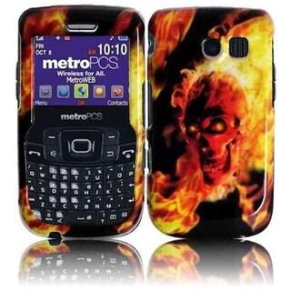 INSTEN Fire Skull Phone Case Cover for Samsung Freeform 2 R360/ R375C