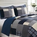 Indigo Blue 3-piece Quilt Set