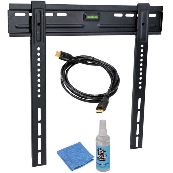 "Pyle PLEDTKIT1 HDTV Video Kit with LED TV Wall Mount, HDMI Cable, and Screen Cleaner For 26"" To 42"" Flat Panel TV"