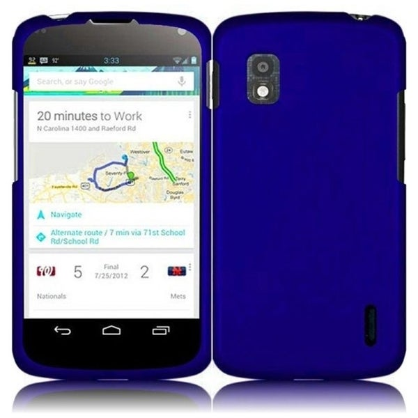 INSTEN Blue Phone Case Cover for LG Nexus 4 E960T