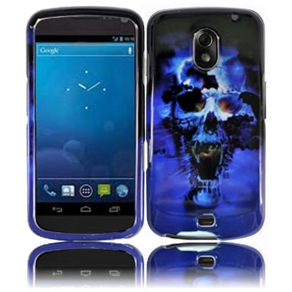 BasAcc Blue Skull Case for Samsung i515 Galaxy Nexus CDMA