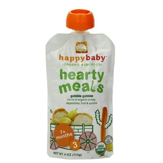 Happy Baby Stage 3 Gobble Gobble Food Pouch (12 Pack)