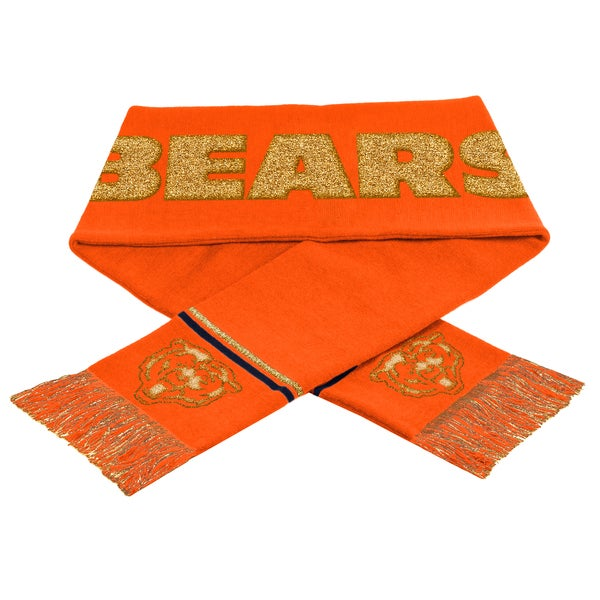 NFL Chicago Bears Woven Metallic Scarf