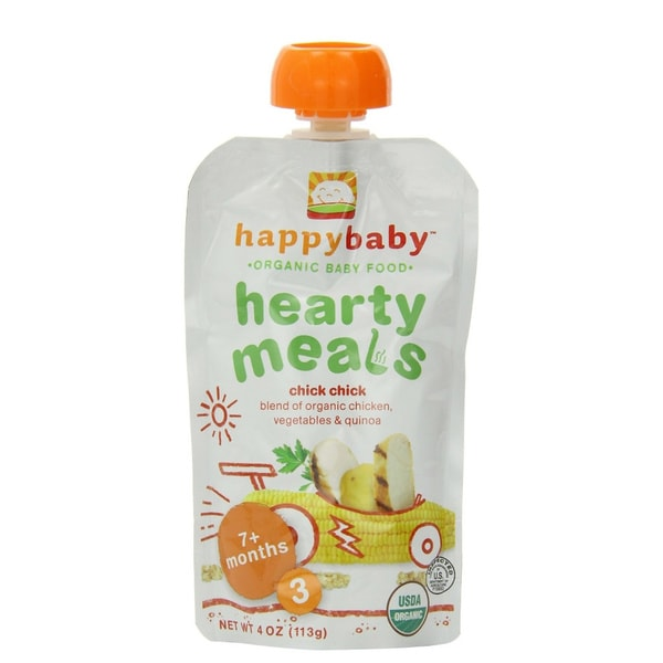 Happy Baby Stage 3 Chick Chick Food Pouch (12 Pack)