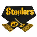 NFL Pittsburgh Steelers Woven Metallic Scarf