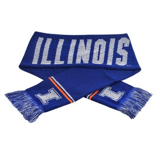 Forever Collectibles NCAA Illinois Fighting Illini Woven Metallic Scarf