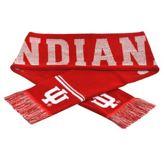 Forever Collectibles NCAA Indiana Hoosiers Woven Metallic Scarf