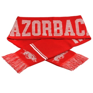 Forever Collectibles NCAA Arkansas Razorbacks Woven Metallic Scarf
