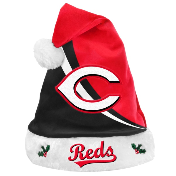 Forever Collectibles MLB Cincinnati Reds Polyester Swoop Santa Hat 12055443