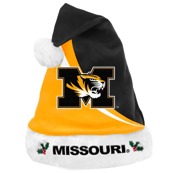 Forever Collectibles NCAA Missouri Tigers Polyester Swoop Santa Hat 12055480