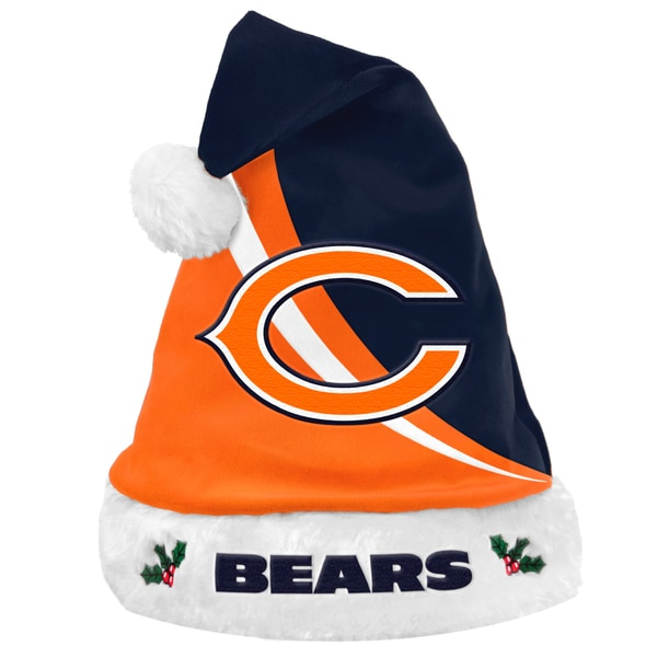Forever Collectibles NFL Chicago Bears Polyester Swoop Santa Hat 12055499
