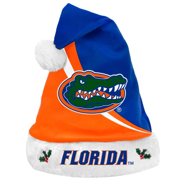 Forever Collectibles NCAA Florida Gators Polyester Swoop Santa Hat 12055526