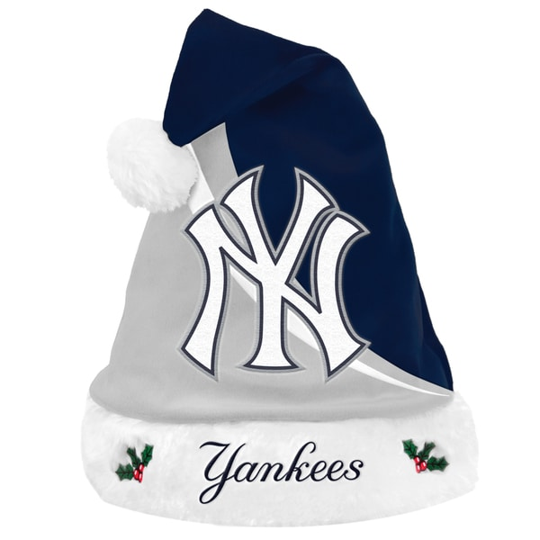 MLB New York Yankees Polyester Swoop Santa Hat