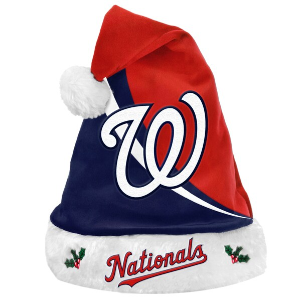 Forever Collectibles MLB Washington Nationals Polyester Swoop Santa Hat 12055545