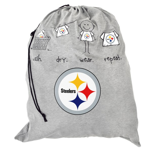 NFL Pittsburgh Steelers Drawstring Laundry Bag