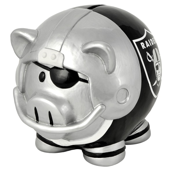 NFL Oakland Raiders Thematic Resin Piggy Bank 12055648