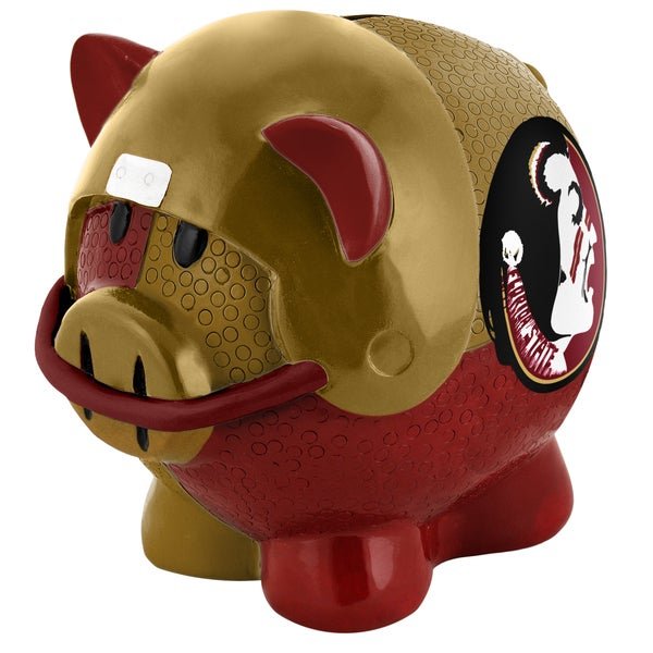 Forever Collectibles NCAA Florida State Seminoles Thematic Resin Piggy Bank 12055666