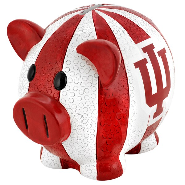 Forever Collectibles NCAA Indiana Hoosiers Thematic Resin Piggy Bank 12055678