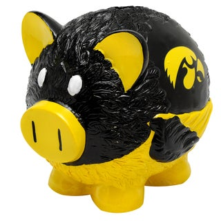 Forever Collectibles NCAA Iowa Hawkeyes Thematic Resin Piggy Bank