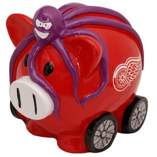 Forever Collectibles NHL Detroit Redwings Thematic Resin Piggy Bank