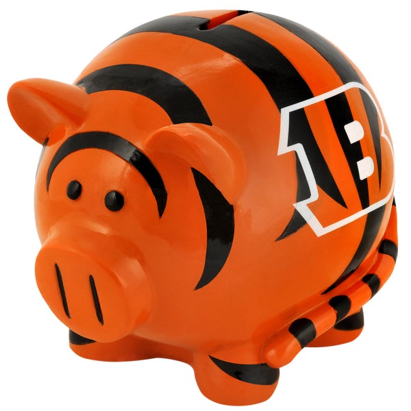 Forever Collectibles NFL Cincinnati Bengals Thematic Resin Piggy Bank 12055694