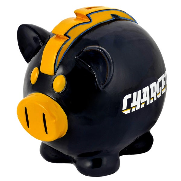 NFL San Diego Chargers Thematic Resin Piggy Bank 12055701