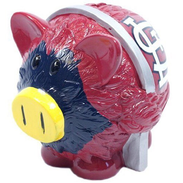 Forever Collectibles MLB St. Louis Cardinals Thematic Resin Piggy Bank