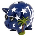 MLB Los Angeles Dodgers Thematic Resin Piggy Bank