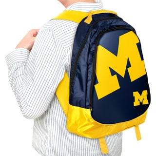 Forever Collectibles NCAA Michigan Wolverines 19-inch Structured Backpack