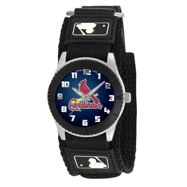 Game Time MLB St. Louis Cardinals Black Rookie Series Watch