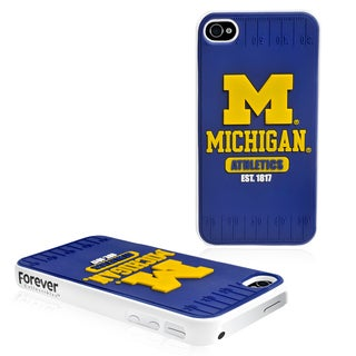Forever Collectibles NCAA Michigan Wolverines iPhone 4/4S Hard Protective Phone Case