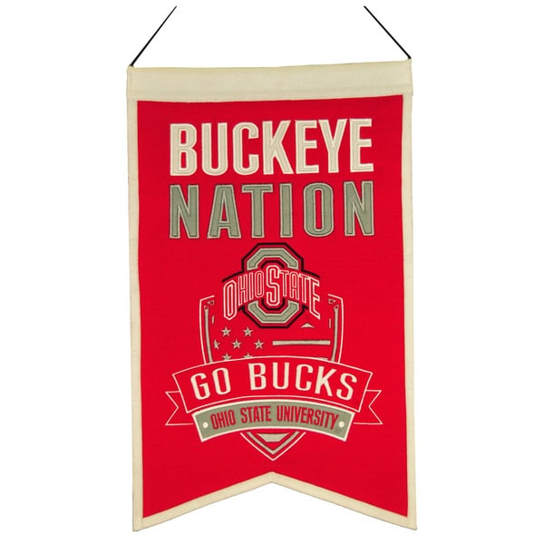 NCAA Ohio State Buckeyes Wool Nations Banner