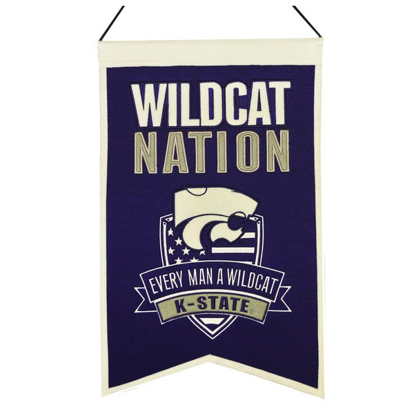 NCAA Kansas State Wildcats Wool Nations Banner 12056136