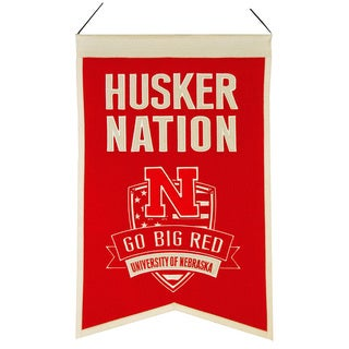 NCAA Nebraska Cornhuskers Wool Nations Banner
